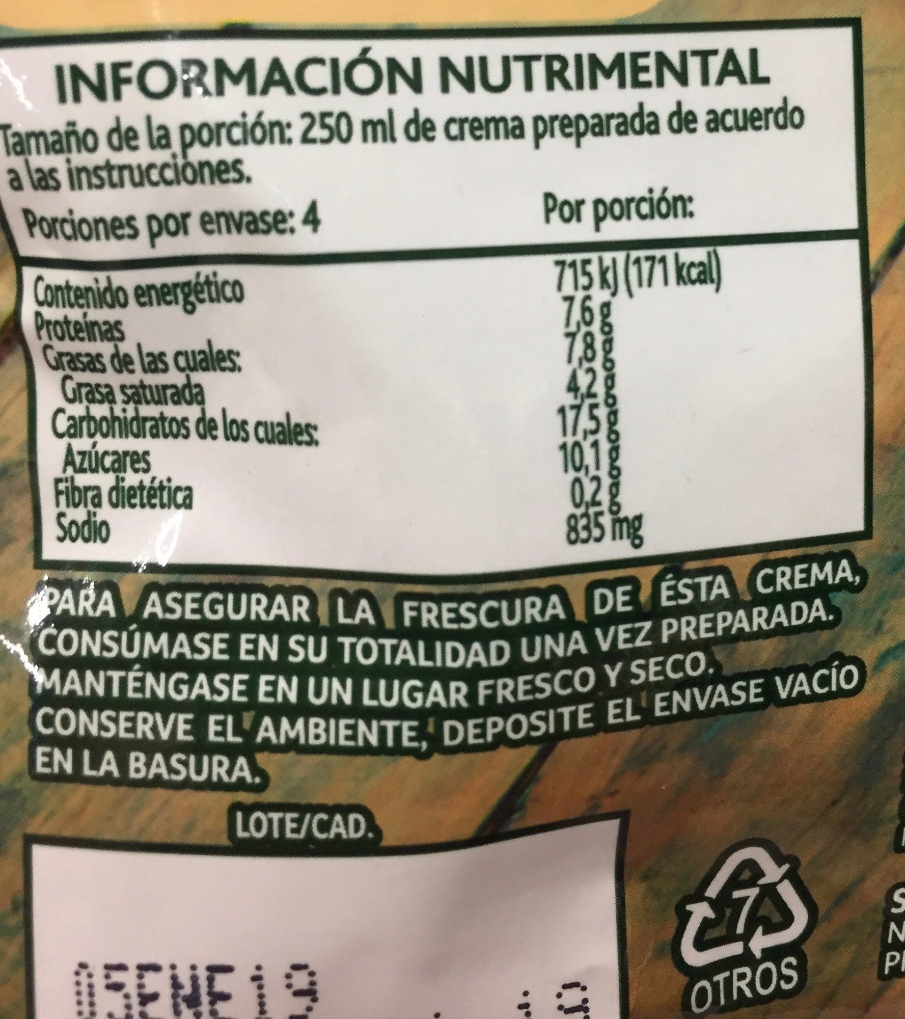 Chile Poblano - Nutrition facts