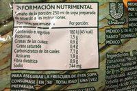 Sopa Méxicana Caldo de Camarón - Voedingswaarden - es