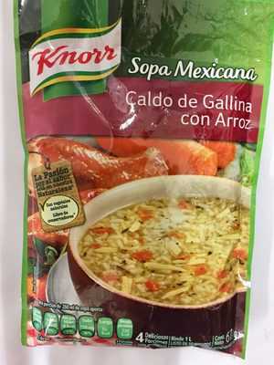 sopa Méxicana caldo de gallina con arroz - Product - es
