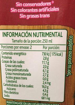 CREMA QUESO CON CHIPOTLE - Información nutricional - es