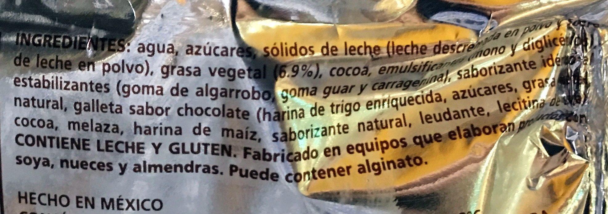 Mordisko Brownie - Ingredients - es