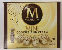 Helado sabor chocolate blanco mini cookies & cream Magnum - Product