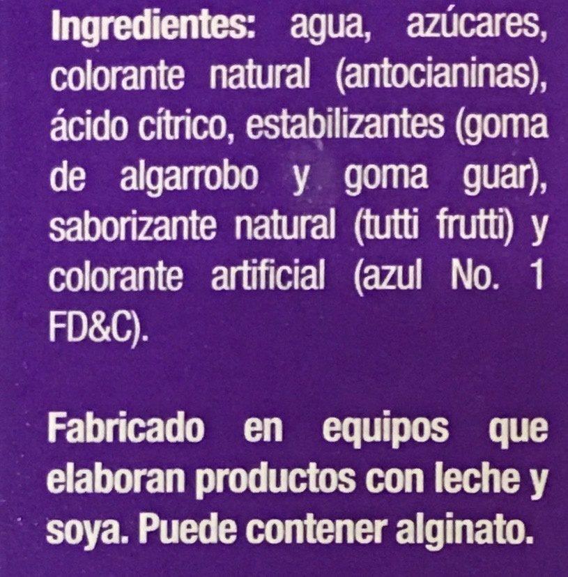 Paleta helada de Agua Pinta Lengua sabor tutti-frutti Holanda - Ingrediënten