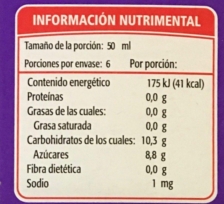 Paleta helada de Agua Pinta Lengua sabor tutti-frutti Holanda - Voedingswaarden