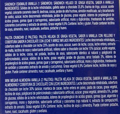TV Pack Nestle - Ingrédients - es