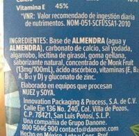 Almendra sin azucar - Ingredients - es