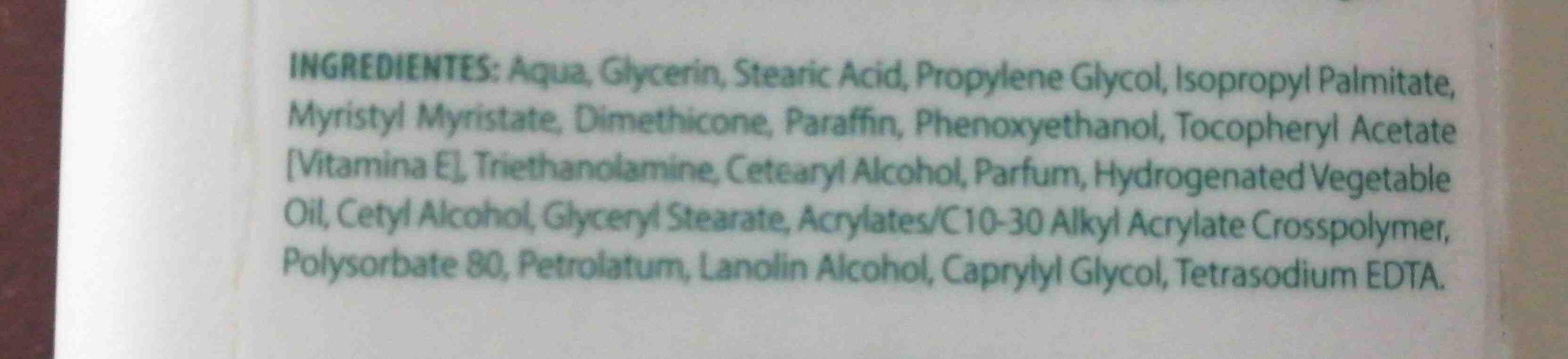Crema corporal neutro balance - Ingredients - en