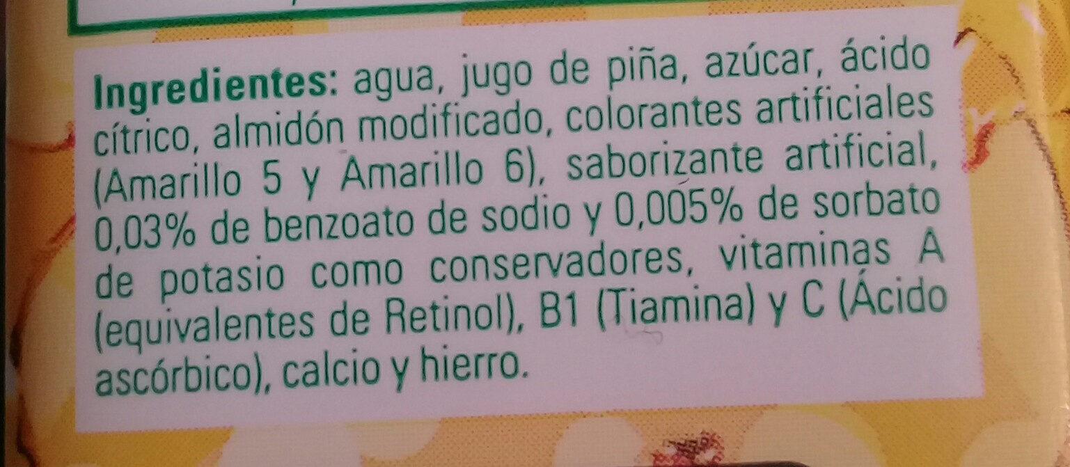 boing de piña - Ingrédients