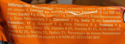 Polvorones - Informations nutritionnelles - es