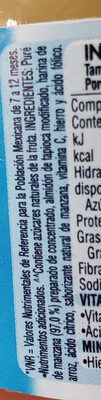Gerber manzana - Ingredients - es