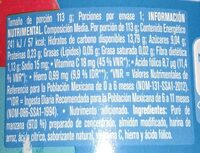 Gerber manzana - Nutrition facts - es