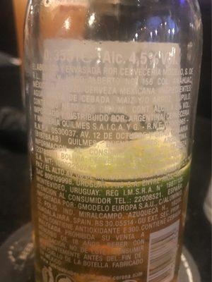 Corona Extra - Ingredients - en