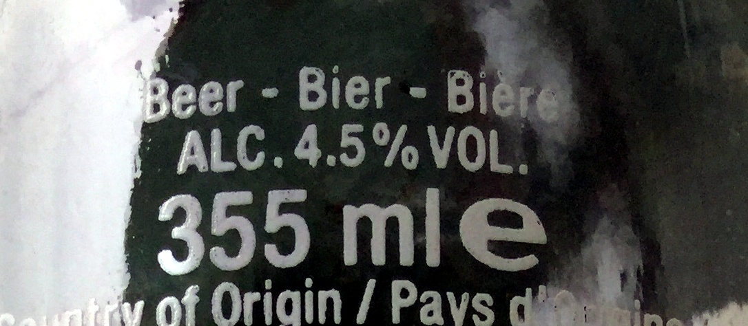 Corona,AB-Inbev - Nutrition facts