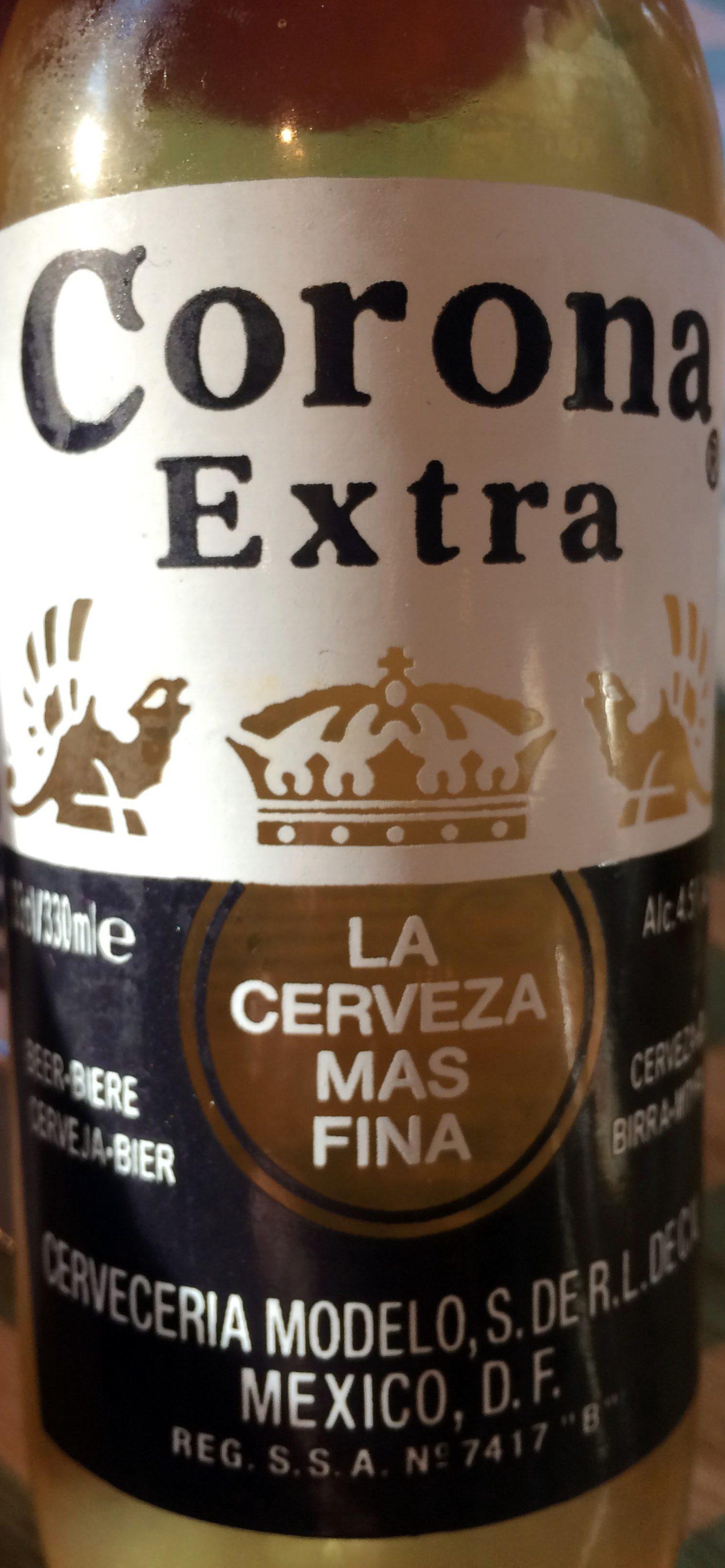 Nutrition facts corona extra beer