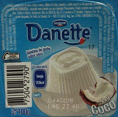 Danette Coco Danone - Ingredients