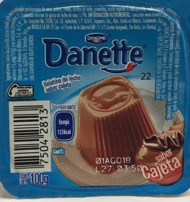 Danette Cajeta Danone - Ingredients