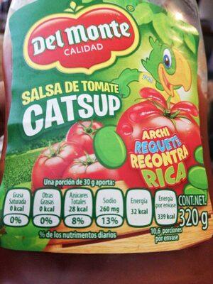 Catsup - Información nutricional - es