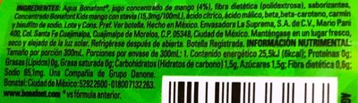 Bonafont Kids Agua Sabor Mango - Ingrédients