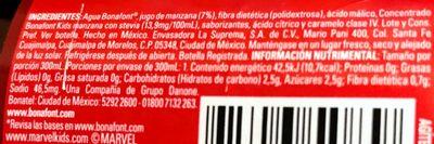 Bonafont Kids Sabor Manzana - Ingredients - es
