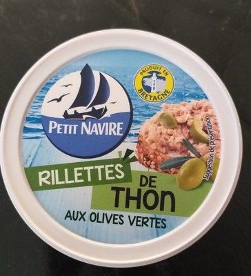Rillettes de thon aux olives vertes - Produit