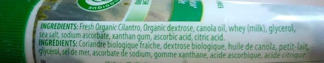 Coriandre Gourmet Garden - Ingredients - fr