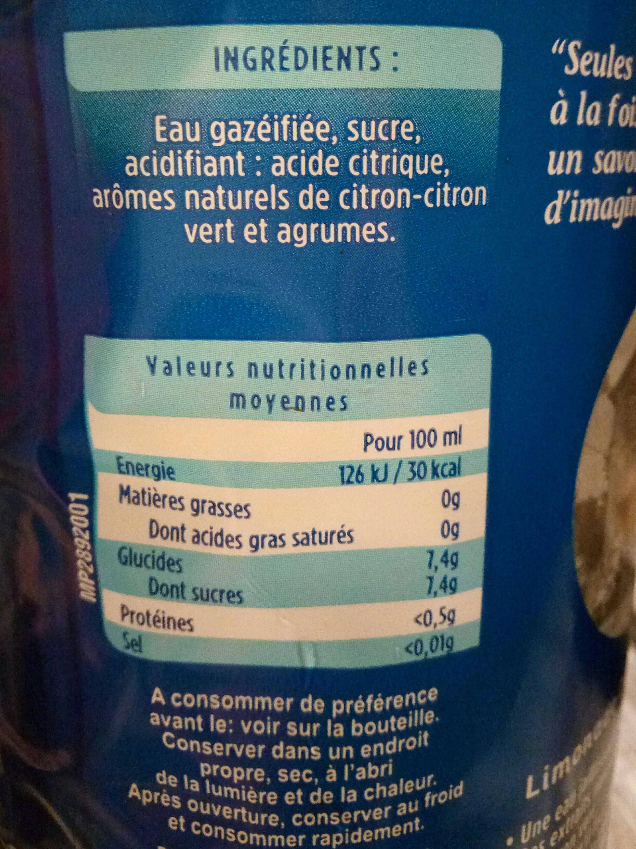 limonade - Informations nutritionnelles - fr