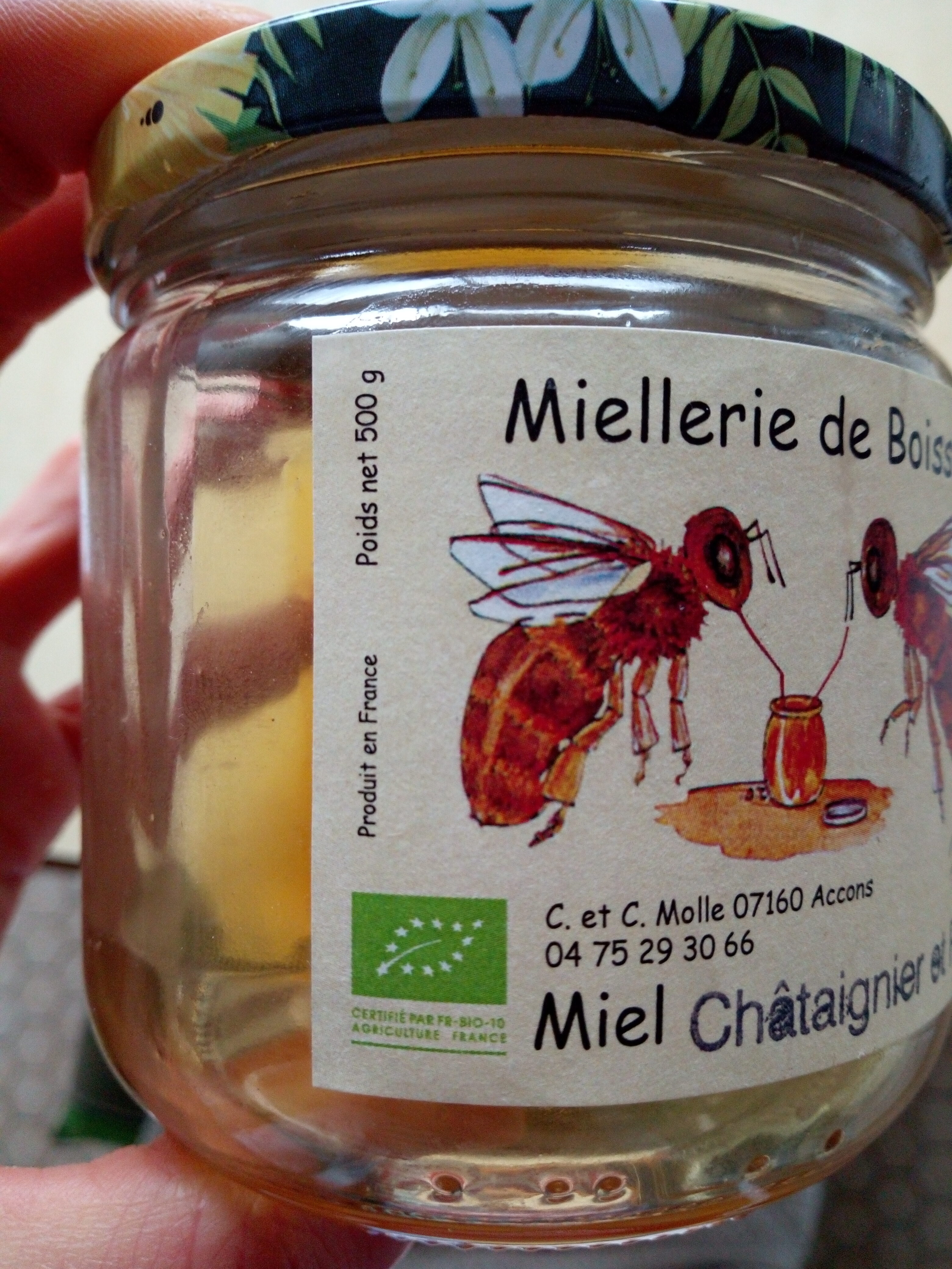 Miel châtaignier et ronce - Instruction de recyclage et/ou informations d'emballage - fr