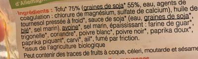 Saucisses de soja - Ingredienti - fr