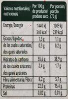 Bonduelle Veggie Lentejas y Zanahorias - Voedingswaarden - es