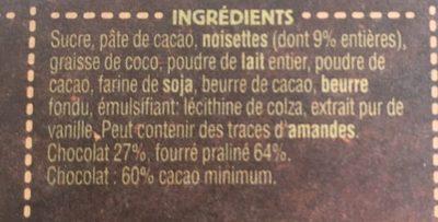 Ragusa noir - Ingredients
