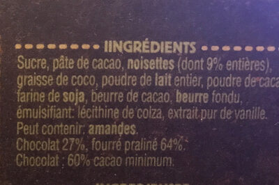 Ragusa noir - Ingrédients