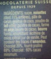 Ragusa Noir - Ingredienti - fr