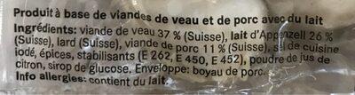 Saucisse a rotir de veau - Ingredients
