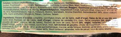 c.m. Plus Noisette - Ingredienti - fr