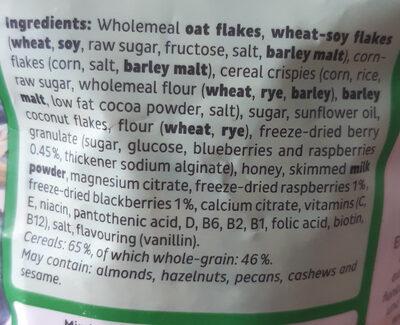 Müsli Waldbeeren - Ingredients - en
