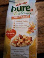 Pure balance muesli avoine, miel, amandes - Product