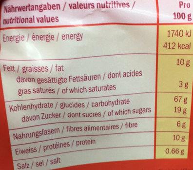 Beeren Crunch - Voedingswaarden - fr