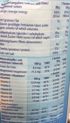 Fit Crisp : Pomme&Cranberrys : Fruchtig leichtes Knuspermüesli mit Vollkorn - Nutrition facts