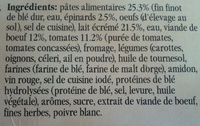Lasagne Verdi Findus - Ingrédients