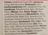 VITAGLUCAN MÜESLI - Ingredients