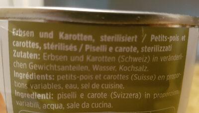 Petits pois et carottes - Ingrediënten