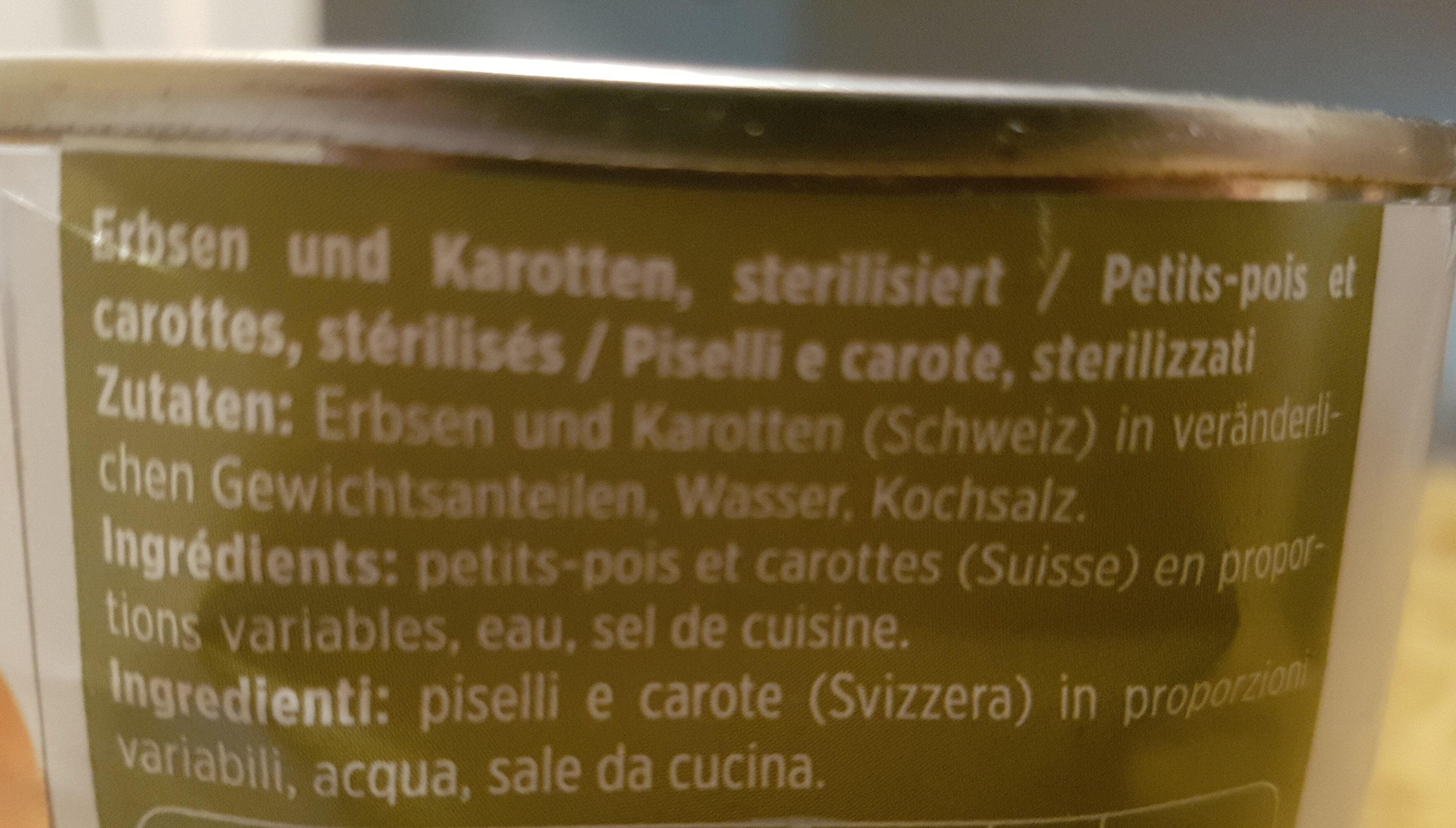 Petits pois et carottes - Ingrediënten - fr