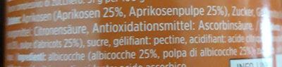 Confiture d'abricots - Ingrédients