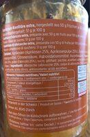 Confiture d'abricots - Informations nutritionnelles
