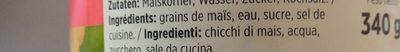 Maiskörner - Ingredients - fr