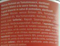 Haricots blancs à la sauce tomate - Inhaltsstoffe - fr