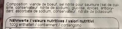 Viande séchée Fribourgeoise - Ingredienti - fr
