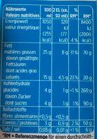 Demi-crème - Voedingswaarden - fr