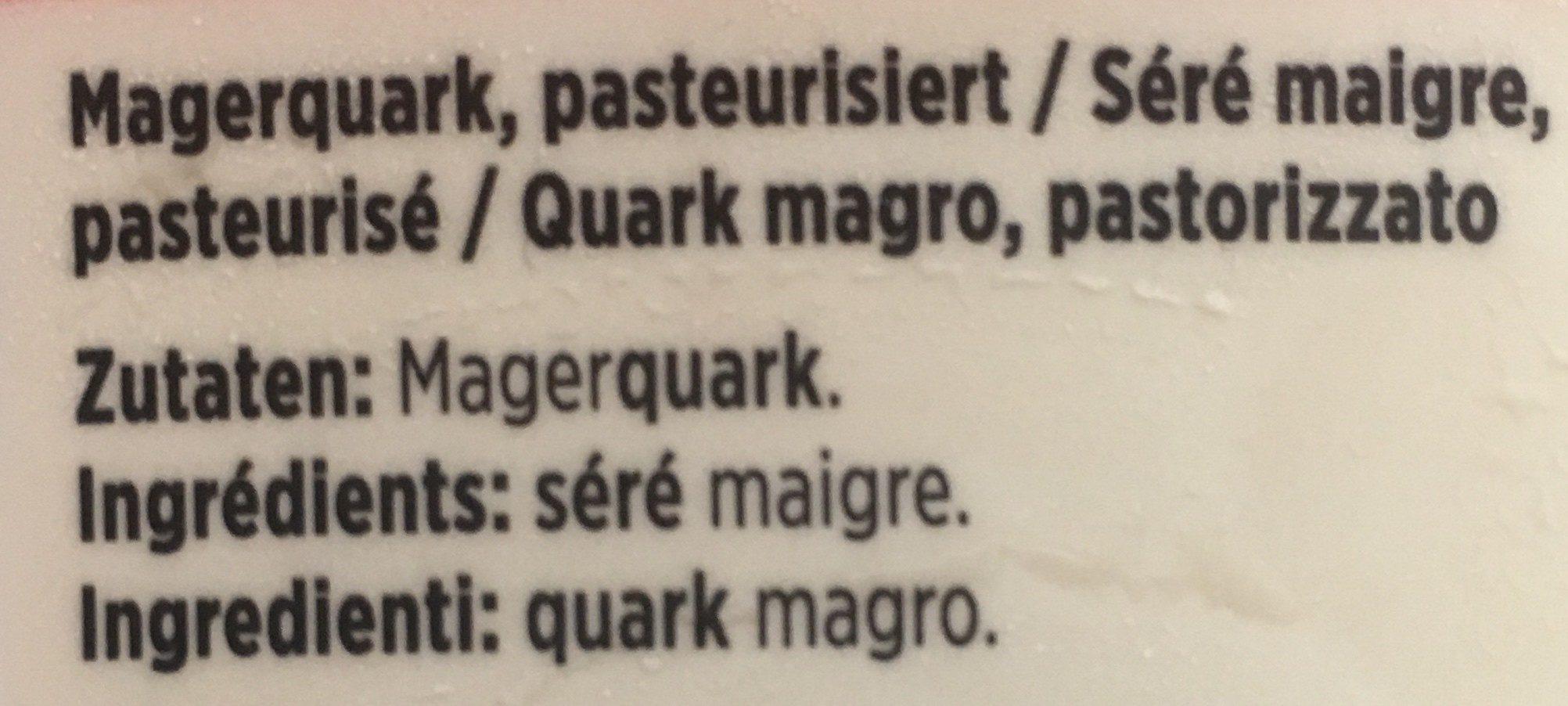 SERE MAIGRE - Ingrediënten - fr