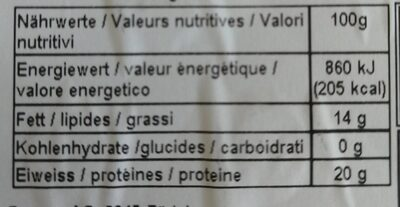 Viande hachée de boeuf - Nutrition facts - fr